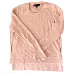 Banana Republic Pink Pima Cotton Cashmere Sweater